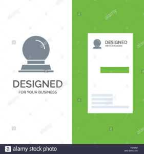 Glass Stand, Decoration, Magic Ball Grey Logo Design And within Card Stand Template