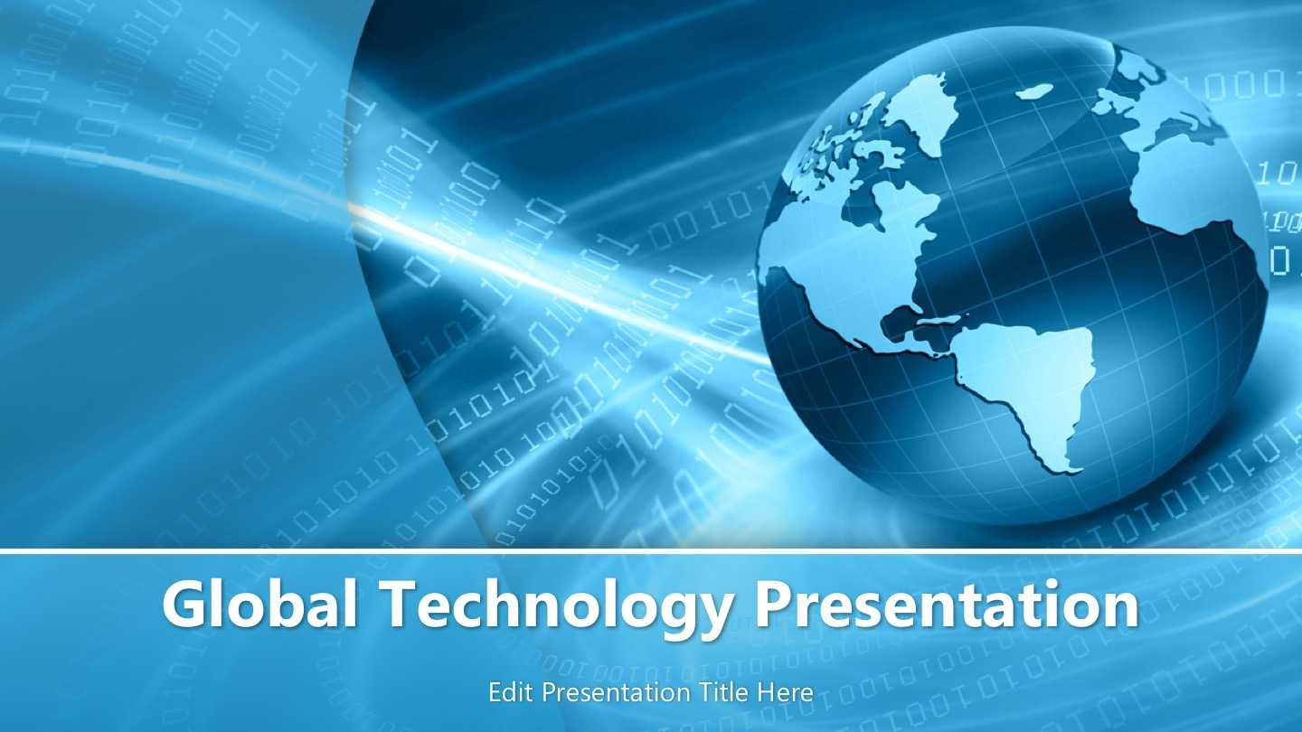 Global Technology Powerpoint Template – Powerpoint Templates With Powerpoint Templates For Technology Presentations