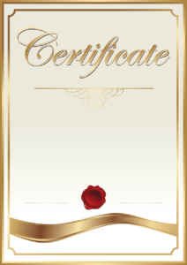 Gold And White Certificate, Template Academic Certificate regarding Art Certificate Template Free
