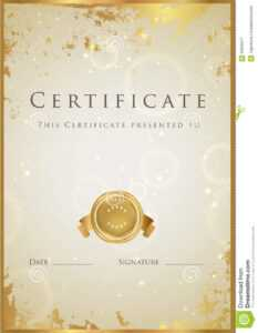 Gold Certificate / Diploma Award Template. Pattern Stock for Winner Certificate Template