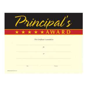 Gold Foil-Stamped Principal's Award Certificates – Pack Of 25 for Officer Promotion Certificate Template