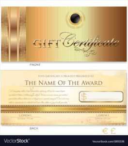 Gold Gift Certificate Template in Gift Certificate Log Template