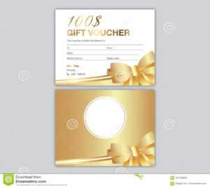 Golden Gift Voucher Design Coupon Card Stock Vector with This Entitles The Bearer To Template Certificate