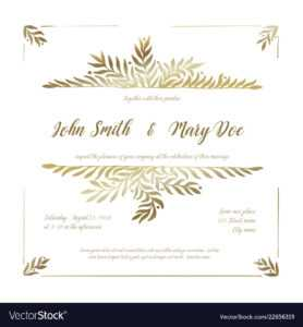 Golden Wedding Invitation Card Template inside Funeral Invitation Card Template