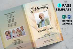 Golden Wheat Funeral Program Template with regard to Memorial Brochure Template