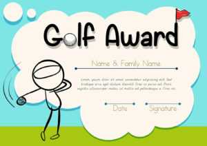 Golf Cartoon Certificate Template – Download Free Vectors for Golf Certificate Template Free