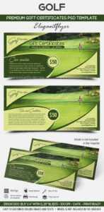 Golf – Premium Gift Certificate Psd Template In Golf Certificate Template Free