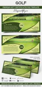 Golf – Premium Gift Certificate Psd Template with Golf Gift Certificate Template