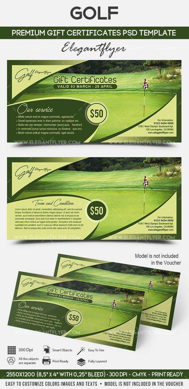 Golf – Premium Gift Certificate Psd Template With Golf Gift Certificate Template