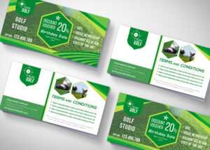 Golf Tournament Gift Voucher Design Template – 99Effects within Golf Gift Certificate Template