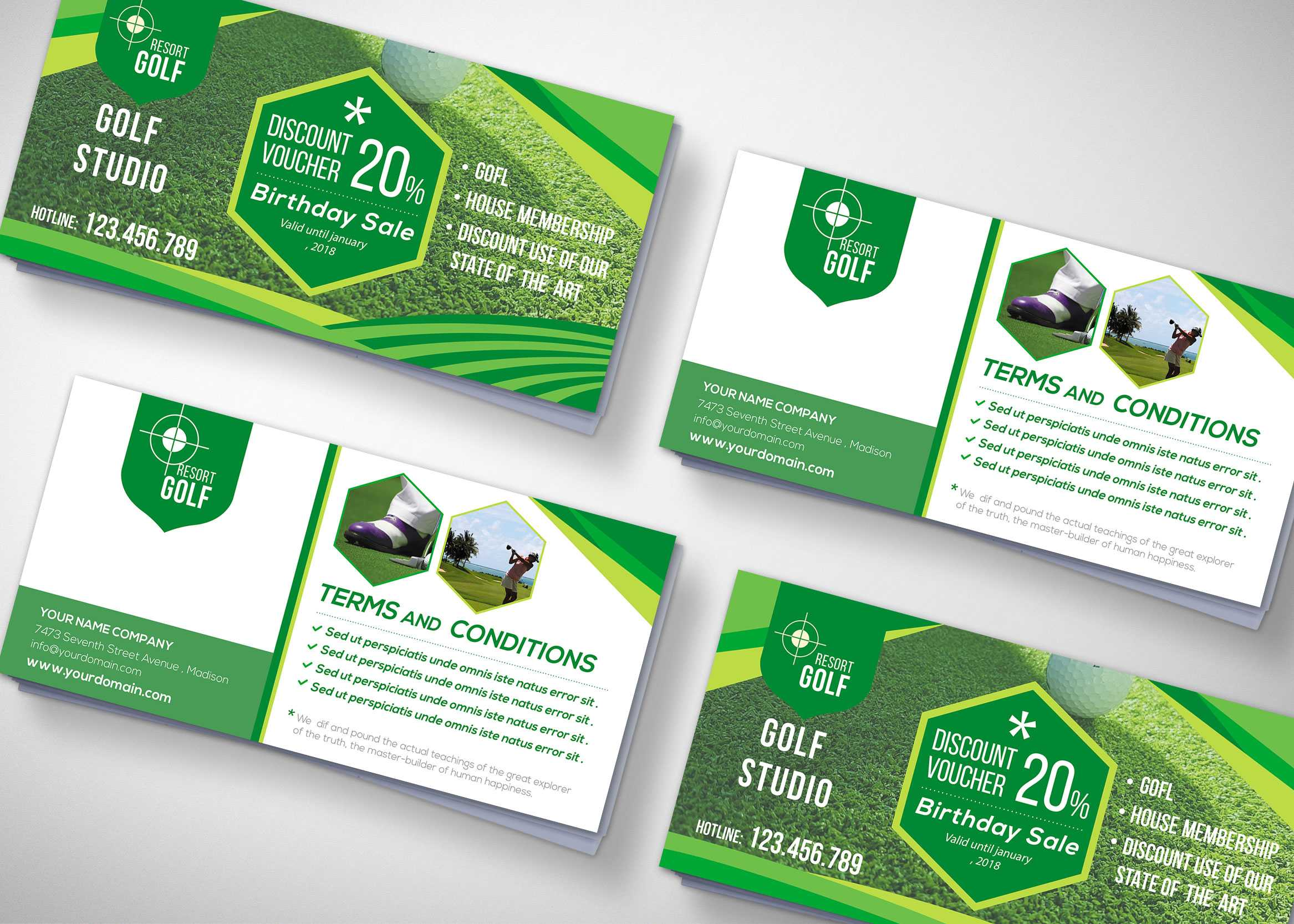 Golf Tournament Gift Voucher Design Template - 99Effects Within Golf Gift Certificate Template