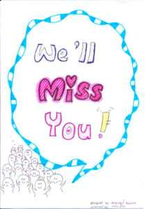 Goodbye Card Clipart intended for Goodbye Card Template