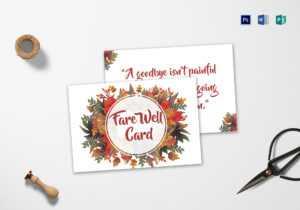 Goodbye Farewell Invitation Card Template regarding Goodbye Card Template