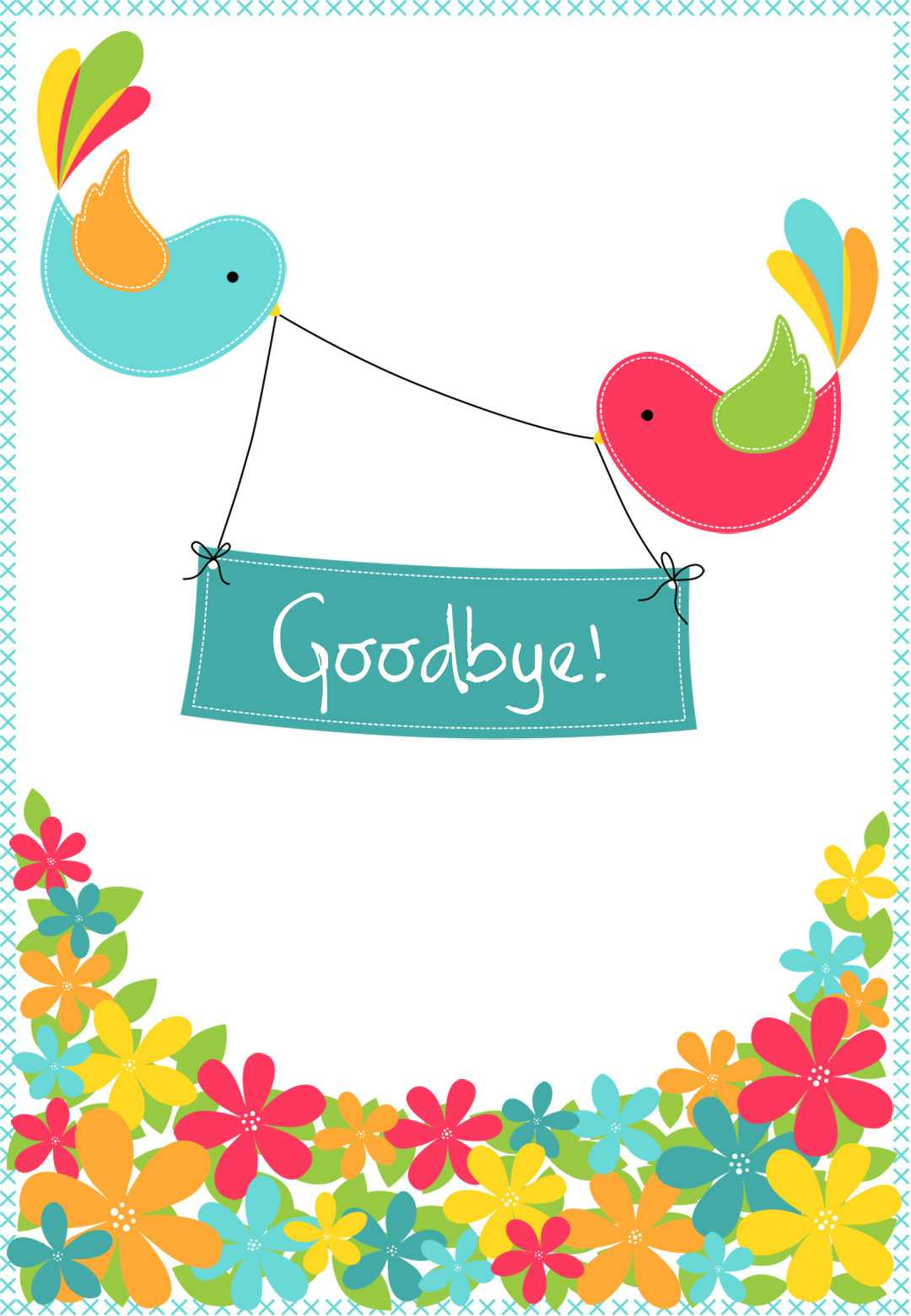 Goodbye From Your Colleagues - Good Luck Card (Free Within Goodbye Card Template