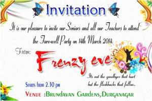 Goodbye Party Invitation Farewell Party Invitation Cards within Farewell Invitation Card Template