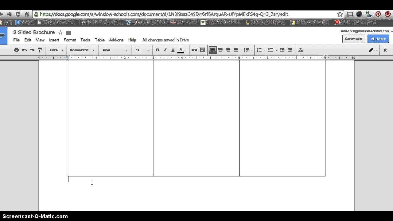 Google Docs Tri Fold Brochure - Oflu.bntl Inside Google Docs Brochure Template