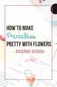 Gorgeous Floral Blog Planner And The Powerpoint Templates inside Pretty Powerpoint Templates