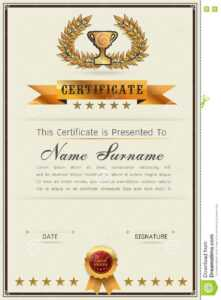 Graceful Certificate Template Stock Vector – Illustration Of intended for Qualification Certificate Template