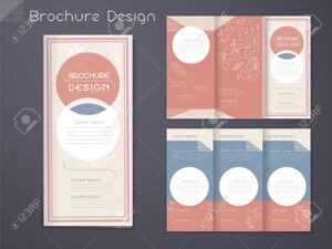 Graceful Tri-Fold Brochure Template Design With Circular Elements.. within Free Three Fold Brochure Template