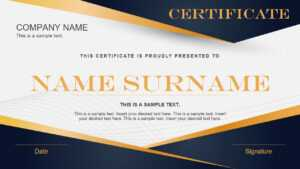 Gradient Powerpoint Certificate Template – Slidemodel throughout Powerpoint Certificate Templates Free Download