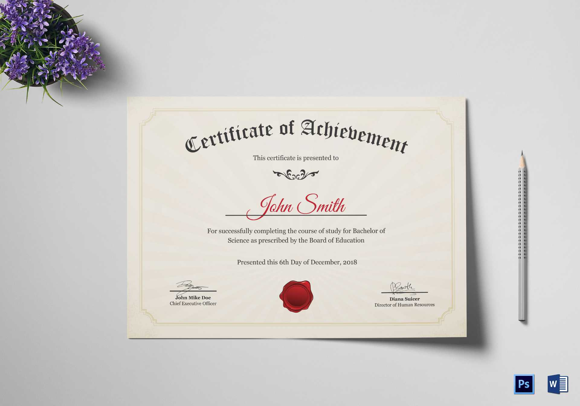 Graduation Degree Certificate Template For Masters Degree Certificate Template