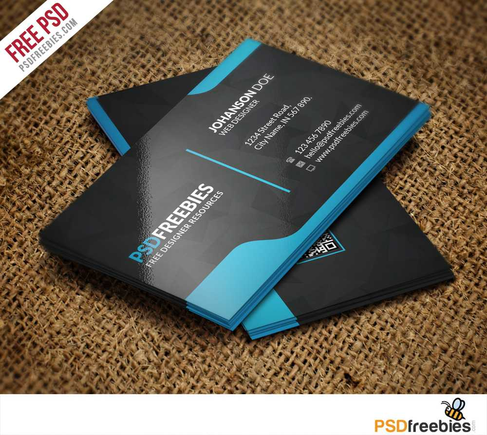 Graphic Designer Business Card Template Free Psd For Name Card Template Psd Free Download