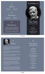 Gray Funeral Program Template regarding Memorial Brochure Template