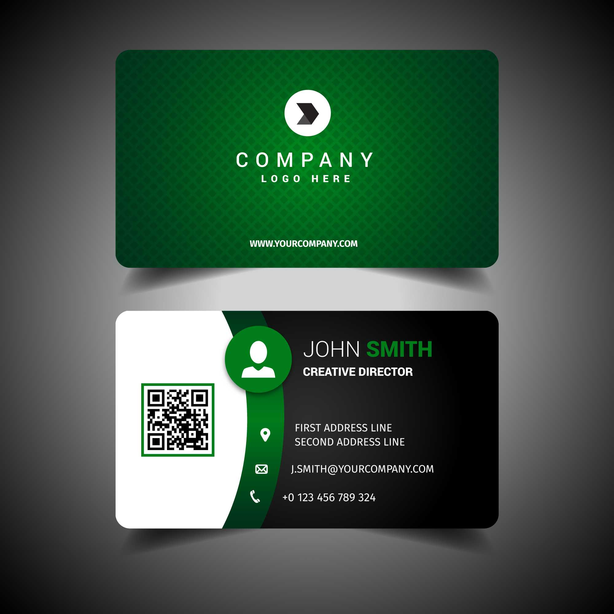Green Business Card Free Vector Art - (2,214 Free Downloads) With Regard To Calling Card Free Template