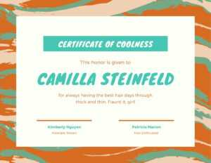 Green Orange Cool Paint Brush Funny Certificate – Templates intended for Funny Certificate Templates