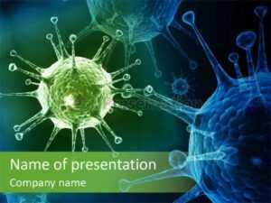 Green Virus Anism Russian Influenza Molecular Powerpoint within Radiology Powerpoint Template