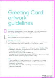 Greeting Card Design Guidelines within Indesign Birthday Card Template