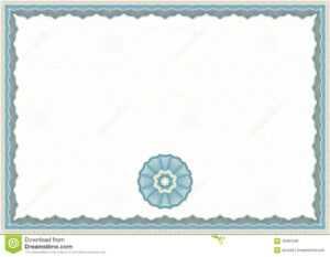 Guilloche Certificate Template Stock Vector – Illustration with regard to Corporate Bond Certificate Template