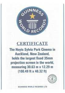 Guinness Certificate – Specialty Cinema within Guinness World Record Certificate Template