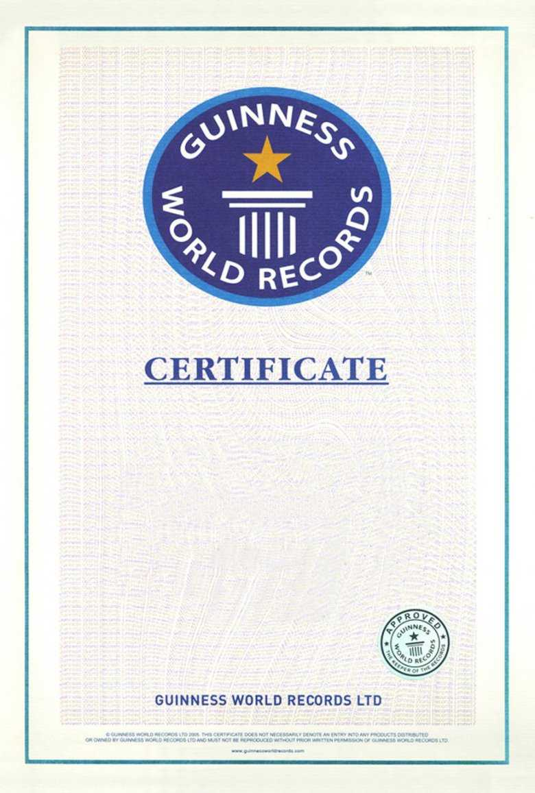 Guinness World Record Certificate Template World Records – Diff For Guinness World Record Certificate Template