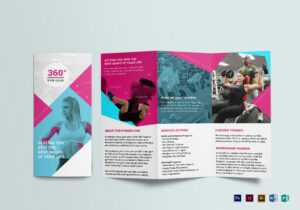 Gym Tri-Fold Brochure Template with Tri Fold Brochure Publisher Template