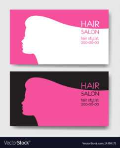 Hair Salon Business Card Templates With Beautiful in Hairdresser Business Card Templates Free