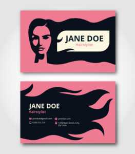 Hairstylist Business Card Template – Download Free Vectors for Hair Salon Business Card Template