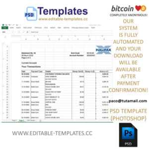 Halifax Statement Excel-Print Quality throughout Credit Card Statement Template Excel