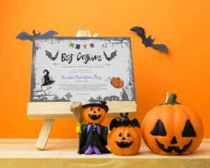 Halloween Party, Best Costume Contest, Printable Certificate, Cosplay,  Fancy Dress Competition, Instant Download, Award Template, Vote Card regarding Halloween Costume Certificate Template