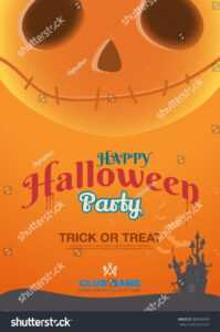 Halloween Poster Template Label Book Ad Stock Vector throughout Halloween Certificate Template