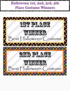 Halloween Printable Contest Tags Halloween Costume Winner Tags Winner  Certificates 1St Place Printable Award Certificates Halloween Favors throughout Halloween Costume Certificate Template