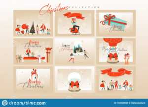Hand Drawn Vector Abstract Fun Merry Christmas Time Cartoon for Death Anniversary Cards Templates