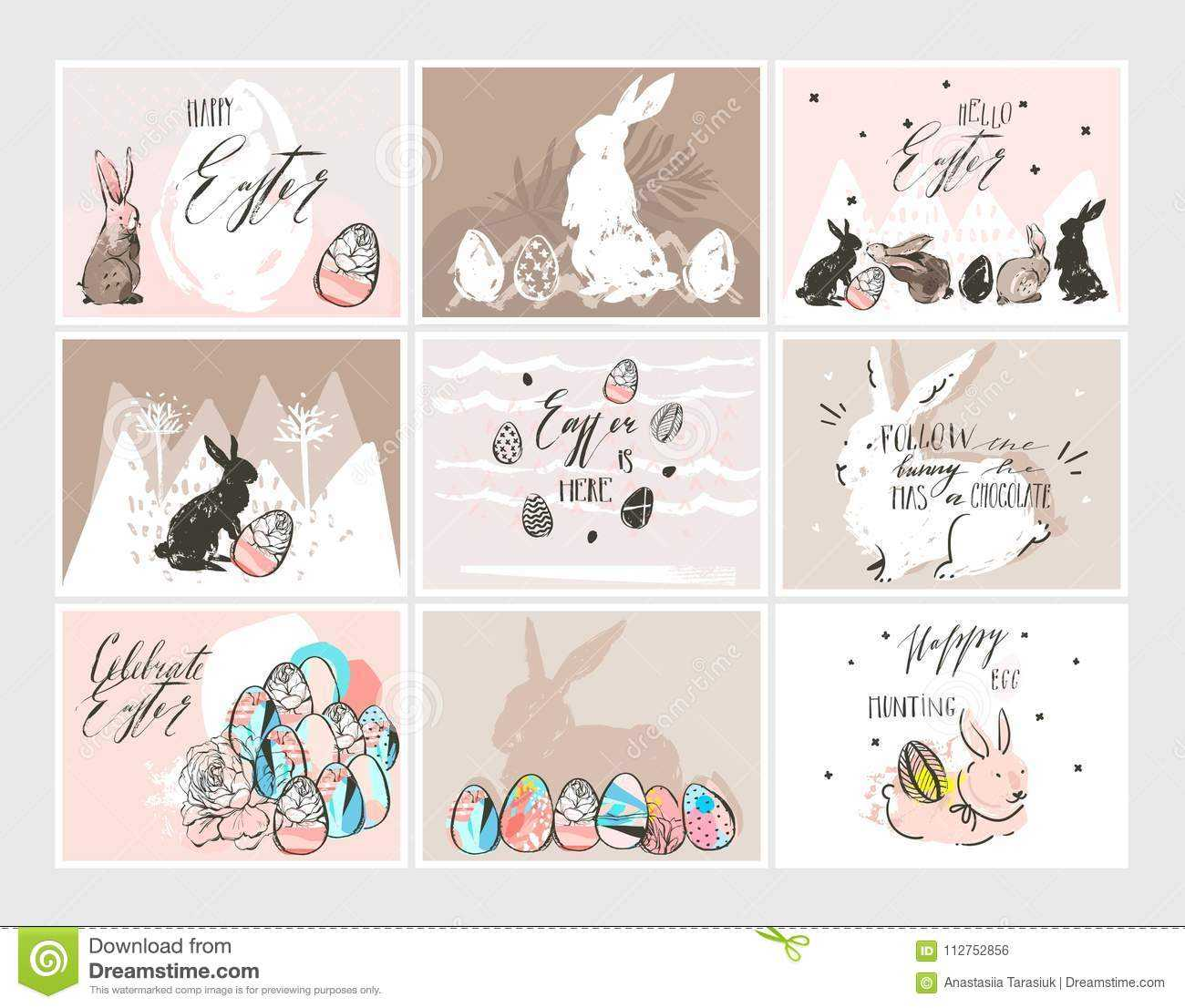 Hand Drawn Vector Abstract Graphic Scandinavian Collage For Death Anniversary Cards Templates