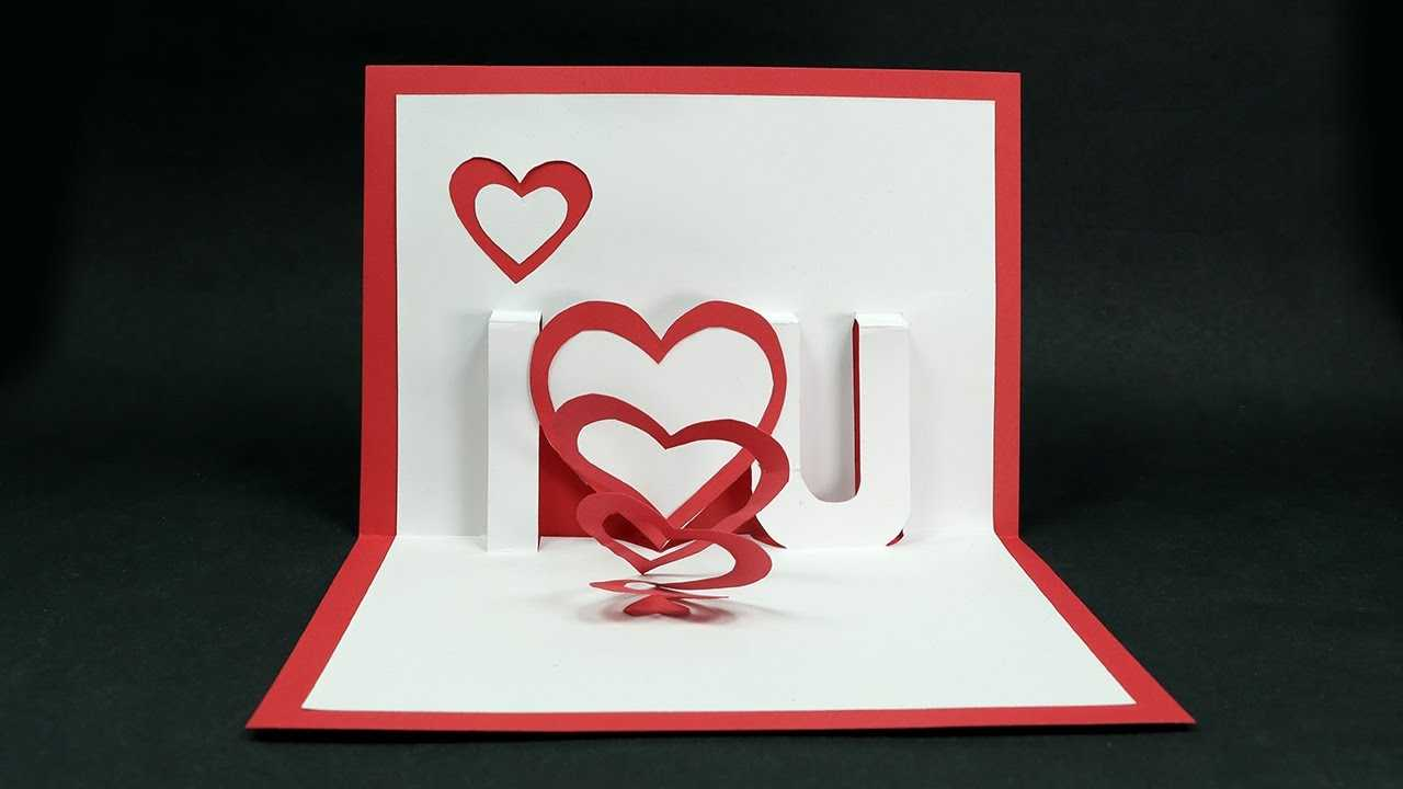 Handmade Valentine's Day Card – Diy 'i Love You' Pop Up Heart Love Card  Tutorial Intended For I Love You Pop Up Card Template