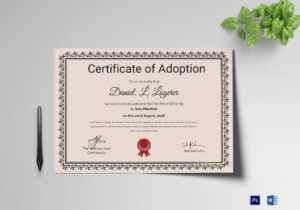 Happy Adoption Certificate Template with Adoption Certificate Template