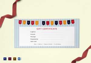 Happy Birthday Gift Certificate Template throughout Gift Certificate Template Photoshop