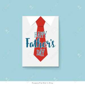 Happy Fathers Day Card Design With Big Tie. Vector Illustration. regarding Fathers Day Card Template