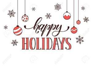 Happy Holidays Postcard Template. Modern New Year Lettering With.. within Happy Holidays Card Template