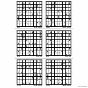 Hard Sudoku Printable 6 Per Page – Printabler inside Free Place Card Templates 6 Per Page