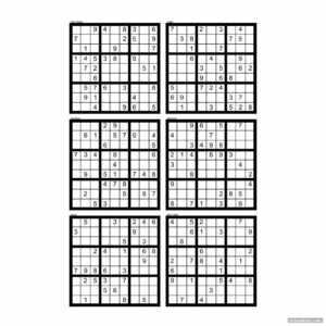 Hard Sudoku Printable 6 Per Page – Printabler pertaining to Free Place Card Templates 6 Per Page